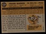 1960 Topps #538  Frank Barnes  Back Thumbnail