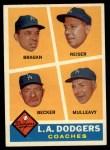 1960 Topps #463   -  Bobby Bragan / Pete Reiser / Joe Becker / Greg Mulleavy Dodgers Coaches Front Thumbnail