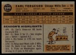 1960 Topps #299  Earl Torgeson  Back Thumbnail