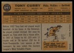 1960 Topps #541  Tony Curry  Back Thumbnail