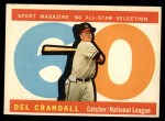 1960 Topps #568   -  Del Crandall All-Star Front Thumbnail