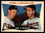 1960 Topps #115   -  Roy Face / Hoyt Wilhelm Fork & Knuckler Front Thumbnail