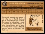1960 Topps #104  Dick Schofield  Back Thumbnail