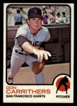 1973 Topps #651  Don Carrithers  Front Thumbnail