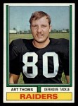 1974 Topps #91  Art Thoms  Front Thumbnail