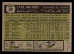 1961 Topps #69  Earl Wilson  Back Thumbnail