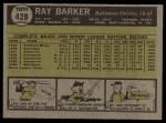 1961 Topps #428  Ray Barker  Back Thumbnail
