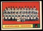 1961 Topps #467   Indians Team Front Thumbnail