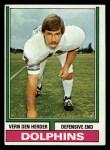 1974 Topps #12  Vern Den Herder  Front Thumbnail