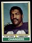 1974 Topps #254  Clint Jones  Front Thumbnail