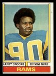 1974 Topps #493  Larry Brooks  Front Thumbnail