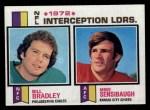 1973 Topps #5   -  Bill Bradley / Mike Sensibaugh Interception Leaders Front Thumbnail