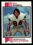1973 Topps #270  Bill Stanfill  Front Thumbnail