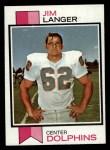 1973 Topps #341  Jim Langer   Front Thumbnail