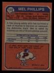 1973 Topps #122  Mel Phillips  Back Thumbnail