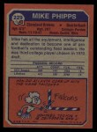 1973 Topps #229  Mike Phipps  Back Thumbnail