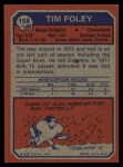 1973 Topps #158  Tim Foley  Back Thumbnail