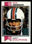 1973 Topps #240  Dick Anderson  Front Thumbnail