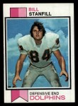 1973 Topps #270  Bill Stanfill  Front Thumbnail