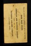 1921 E220 National Caramel  Sam Rice  Back Thumbnail