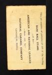 1921 E220 National Caramel  George Cutshaw  Back Thumbnail