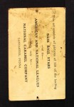 1921 E220 National Caramel  Herb Pennock  Back Thumbnail