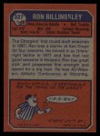 1973 Topps #327  Ron Billingsley  Back Thumbnail