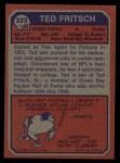 1973 Topps #223  Ted Fritsch Jr.  Back Thumbnail