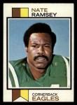 1973 Topps #482  Nate Ramsey  Front Thumbnail