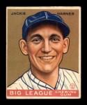 1933 Goudey #178  Jack Warner  Front Thumbnail