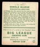 1933 Goudey #159  Ossie Bluege  Back Thumbnail