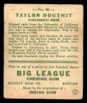 1933 Goudey #40  Taylor Douthit  Back Thumbnail