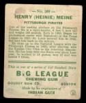 1933 Goudey #205  Heinie Meine  Back Thumbnail