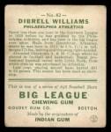 1933 Goudey #82  Dib Williams  Back Thumbnail