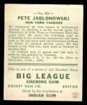 1933 Goudey #83  Pete Jablonowski  Back Thumbnail