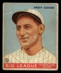 1933 Goudey #52  Andy Cohen  Front Thumbnail
