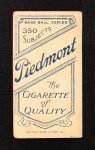 1909 T206  Jimmy Dygert  Back Thumbnail