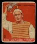 1933 Goudey #1  Benny Bengough  Front Thumbnail