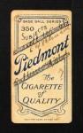 1909 T206  Jim McGinley  Back Thumbnail