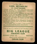 1933 Goudey #120  Carl Reynolds  Back Thumbnail