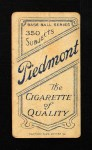 1909 T206  Ike Rockenfeld  Back Thumbnail