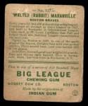 1933 Goudey #117  Rabbit Maranville  Back Thumbnail