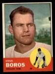 1963 Topps #532  Steve Boros  Front Thumbnail