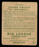 1933 Goudey #49  Frankie Frisch   Back Thumbnail