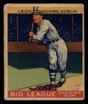 1933 Goudey #168  Goose Goslin  Front Thumbnail