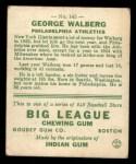 1933 Goudey #145  Rube Walberg  Back Thumbnail