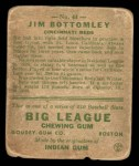 1933 Goudey #44  Jim Bottomley  Back Thumbnail