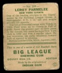 1933 Goudey #239  Leroy Parmelee  Back Thumbnail