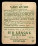 1933 Goudey #143  Glenn Wright  Back Thumbnail