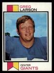 1973 Topps #418  Greg Larson  Front Thumbnail